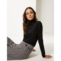 M&S Collection Funnel Neck Long Sleeve Top