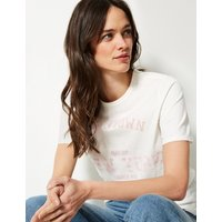 M&S Collection Pure Cotton Manhattan Straight Fit T-Shirt