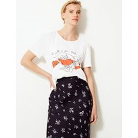 MandS Collection Lobster Relaxed Fit T-Shirt