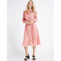 M&S Collection Printed Longline Shirt Midi Dress