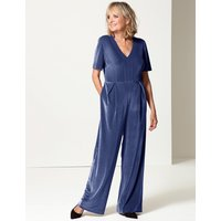 Twiggy for M&S Collection Velvet Short Sleeve Jumpsuit