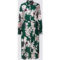 M&S Collection Floral Print Longline Shift Midi Dress