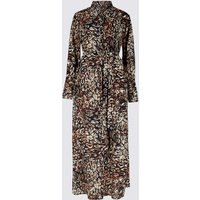 M&S Collection Printed Long Sleeve Shirt Maxi Dress