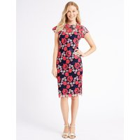 M&S Collection Embroidered Lace Short Sleeve Bodycon Dress