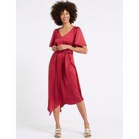 M&S Collection Satin Asymmetric Half Sleeve Tea Dress