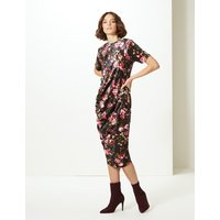 Limited Edition Floral Print Shift Midi Dress