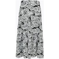 MandS Collection Pure Cotton Ruffle Midi Fit and Flare Skirt