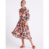 Per Una Textured Jacquard 3/4 Sleeve Shirt Dress