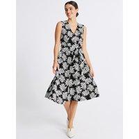 Per Una Textured Leaf V-Neck Prom Dress