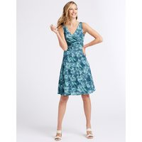 Classic Cotton Blend Burnout Print Dress