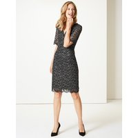 M&S Collection Half Sleeve Shift Dress