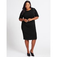 M&S Collection CURVE Twisted Waist Half Sleeve Swing Dress