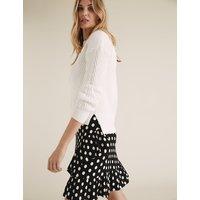 MandS Collection Jersey Polka Dot Ruffle Mini Wrap Skirt