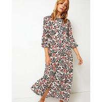 Per Una Tiered Floral Print Maxi Shirt Dress