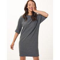 M&S Collection Cotton Blend Cosy Shift Dress
