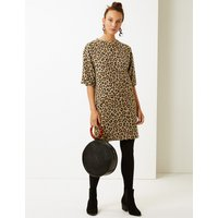 M&S Collection Animal Print Shift Dress