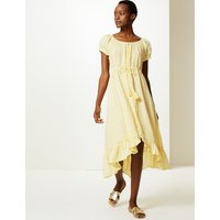 MandS Collection Pure Linen Waisted Midi Dress