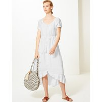 M&S Collection Pure Linen Waisted Midi Dress