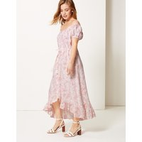 M&S Collection PETITE Pure Linen Midi Waisted Dress