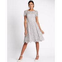 M&S Collection Cotton Blend Lace Swing Dress