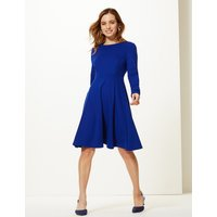 M&S Collection PETITE Long Sleeve Fit & Flare Dress
