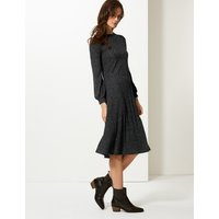 M&S Collection Jersey Long Sleeve Swing Midi Dress