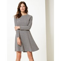 M&S Collection Textured Fit & Flare Mini Dress