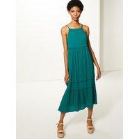 MandS Collection Pure Cotton Slip Midi Dress