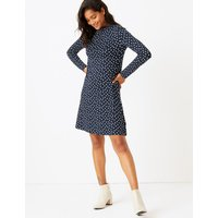 MandS Collection Polka Dot Jersey Swing Dress