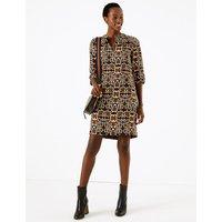 M&S Collection Animal Print Crepe Shift Dress