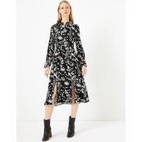 M&S Collection Floral Print Midi Shirt Dress