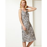 M&S Collection Animal Print Slip Midi Dress