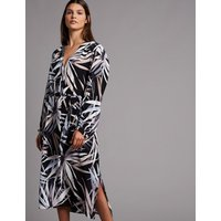 Autograph Pure Silk Floral Print Belted Tunic Dress