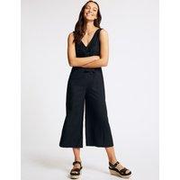 M&S Collection Linen Rich Tie Front Jumpsuit