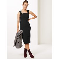 M&S Collection Square Neck Bodycon Midi Dress