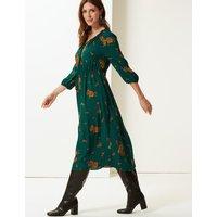 M&S Collection Floral Print Tea Midi Dress