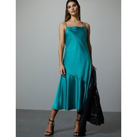 Autograph Satin Slip Midi Dress