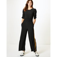 M&S Collection Star Print Half Sleeve Jumpsuit
