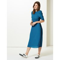 M&S Collection Half Sleeve Swing Midi Dress