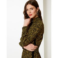 M&S Collection Animal Print Fit & Flare Midi Dress