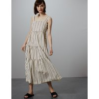 Autograph Striped Maxi Relaxed Dress