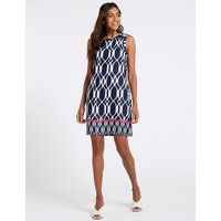 M&S Collection Linen Rich Printed Tunic Dress