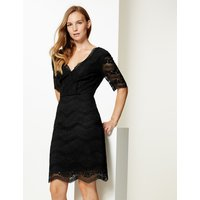 M&S Collection Lace Half Sleeve Bodycon Dress
