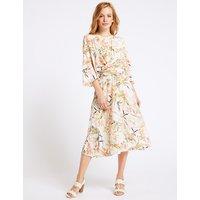 M&S Collection PETITE Floral Print Tunic Midi Dress