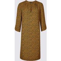 M&S Collection Satin Animal Print Tunic Midi Dress