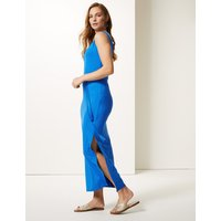 MandS Collection Ruched Front Slip Maxi Dress