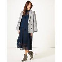 M&S Collection Long Sleeve Drop Waist Midi Dress