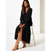 M&S Collection Long Sleeve Shirt Maxi Dress