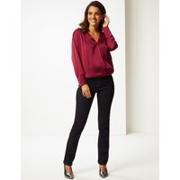 Per Una Silk Rich V-Neck Long Sleeve Blouse