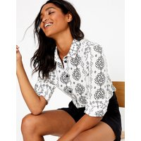 MandS Collection Pure Cotton Printed Utility Shirt
